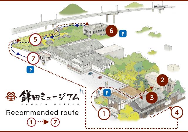 鎌田ミュージアムガイドマップ